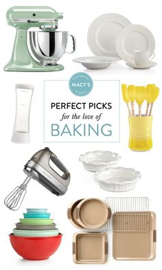 If there's one thing we love, it's getting crafty in the kitchen. But in order to whip up those treats that'll leave your friends WOWed, loading up that registry with trusty bakeware is an absolute must. Lucky for you, my dears, Macy's has everything you'll need to stock your newlywed kitchen and in our today's installment…