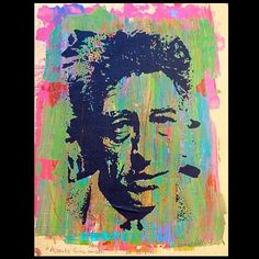 Portrait of Alberto Giacometti 38/2014 acrylics on wood by Daniel Pultorak #art #danielpultorak #kunst