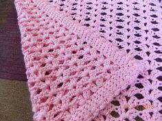 Gossamer Crochet Baby Blanket (Blanket Pattern Downloaded, as well as Lollys Crafty Crochet Baby Essentials Free Ebook - SLT)