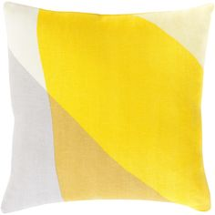 We love the cool, color-blocked effect on this stylish pillow. A great choice for a modern and colorful living space.