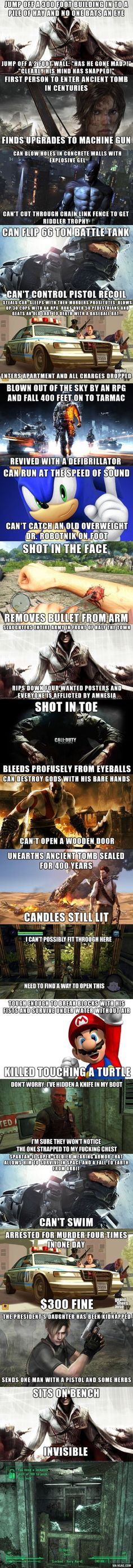 Video Game logic...Kassie will appreciate this even more than me.: