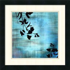 Aqua Floral II by James Burghardt Framed Painting Print