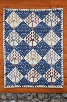 William Morris Trees of Life Quilt by coraquilts.