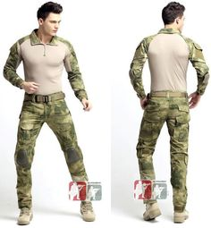 A-TACS FG Gen3 G3 Combat Suit Shirt Pants Military Uniform Airsoft Hunting Army #Unbranded