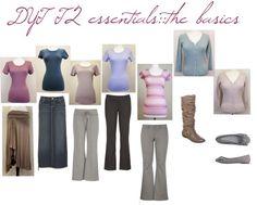 """DYT T2 Essentials::the basics"" by sarah-noonan-dlugosh on Polyvore"