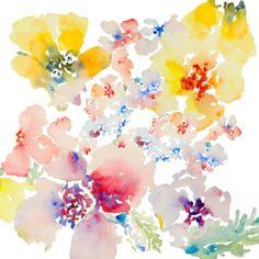 Petal Expressions, Watercolor Flowers, Fine Art Print 8.5x11