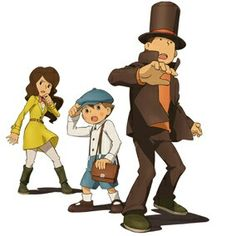 Professor Layton - Emmy, Professor Layton and Luke