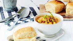 Chana Masala, Cantaloupe, Soup Recipes, Curry, Food And Drink, Cheese, Fruit, Ethnic Recipes, Koti