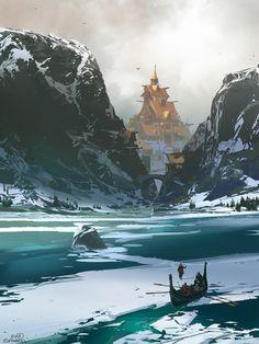 ArtStation - Norse city, sparth .