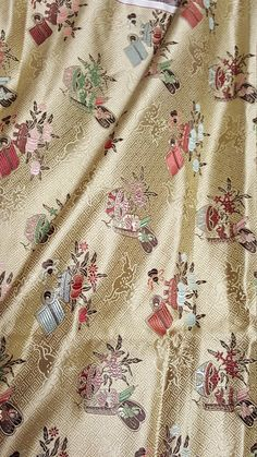 Asian oriental hemp silk fabric