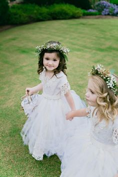flower girl could have a semi-matching headband as bride