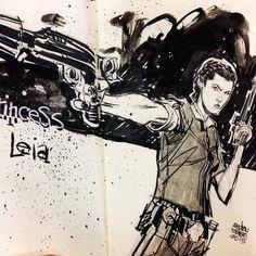 Star Wars - Princess Leia by Andrew Robinson *