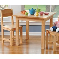 Child sized classic wood table w/ 2 chairs for kids ConstructivePlaythings,http://www.amazon.com/dp/B002FP760U/ref=cm_sw_r_pi_dp_4GZQsb0FHMGG6X68
