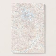 Vintage Mount Rainier Topographical Map Washington Post-it Notes Custom Office Retirement #office #retirement