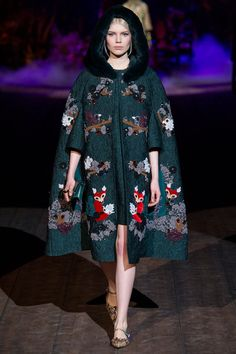 DIARY OF A CLOTHESHORSE: THE LOOKS - DOLCE&GABBANA AW 15 WOMENS #MILAN