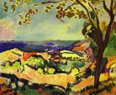Colline avec vue sur la mer, par Henri Matisse