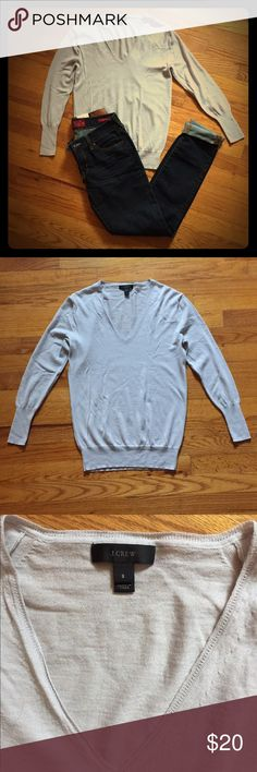 J. Crew top Women's j. Crew long sleeve sweater. 100% merino wool. Excellent condition. Light purple color. Very soft!! J. Crew Tops