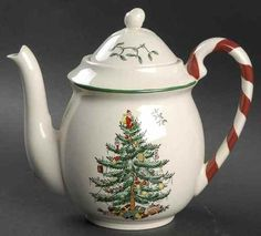 "Spode CHRISTMAS TREE Tea Pot 6"" 8473166"