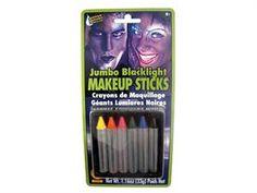 (Limited Supply) Click Image Above: Jumbo Black Light Makeup Sticks - Makeup Fx Makeup, Body Makeup, Black Light Makeup, Fashion Blog Names, Rave Gear, Fashion Background, Baby Lips, Shirt Hair, Baby Powder