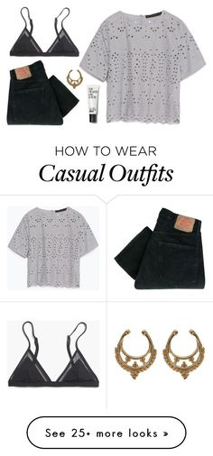 """""""Super Casual"""" by doorknobsnazzy on Polyvore featuring мода, Zara, Madewell, Levi's, women's clothing, women, female, woman, misses и juniors"""