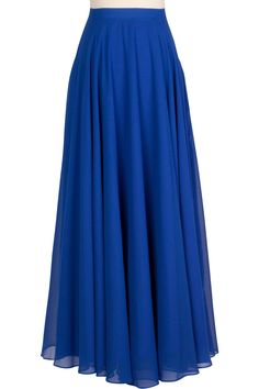 Feel absolutely beautiful in the Chiffon Circle Skirt! Its fluid silhouette is full of volume and gives way to easy strides and beautiful movement. Smart details like side pockets and full lining w. Blue Skirt Outfits, Maxi Outfits, Edgy Outfits, Classy Outfits, Fashion Pants, Hijab Fashion, Fashion Dresses, Casual Dresses, Fancy Dress Design