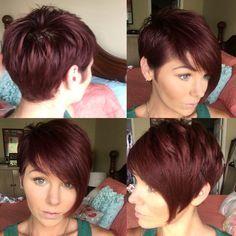 Red hair... Pixie cut