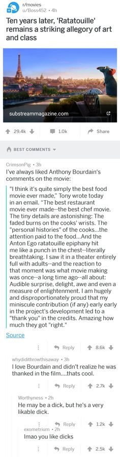 Anthony Bourdain on Ratatouille Disney Fanatic, Disney Love, Ratatouille, Getting Out, Trending Memes, Things To Think About, Funny Jokes, Spice, Book