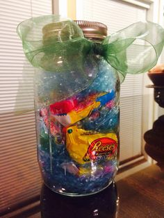 Need a diy addition for your easter baskets take small mason jars stole this idea but super cute instead of filling an easter basket full of negle Gallery