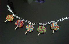 Bracelet fimo sucettes multicolores
