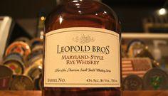 Leopold Bros. Maryland Style Rye Rye Whiskey, Bourbon Whiskey, Whisky, Maryland, Whiskey Bottle, Liquor, Drinks, School, Style