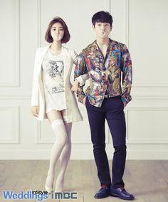 Go Jun-hee & Jinwoon // InStyle Weddings Korea Pre Wedding Photoshoot, Wedding Pics, Wedding Shoot, We Got Married Couples, We Get Married, Wgm Couples, Cute Couples, Kpop Fashion, Korean Fashion