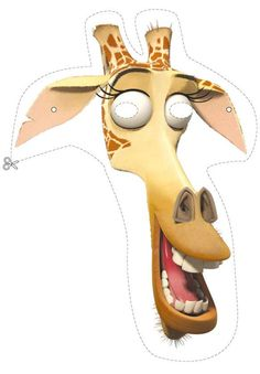 Madagascar 2 wild animals Masks - Melman the giraffe Mask