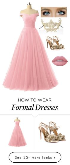 """""""Ella's Mother's Dress"""" by theredscarf on Polyvore featuring Masquerade, Aquazzura and Lime Crime"""