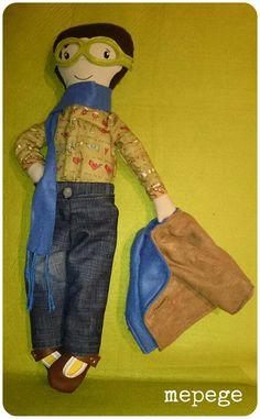 Muñeco de trapo hecho a mano.