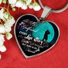 To My Girlfriend Luxury Necklace: Every Love Story Is Beautiful But Ou - Gift For Loves Best Gift For Girlfriend, Beautiful Girlfriend, Christmas Gifts For Girlfriend, Birthday Gifts For Girlfriend, Necklace For Girlfriend, Boyfriend Gifts, Romantic Candles, Romantic Gifts, Love Gifts