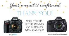 Camera Giveaway: Free Nikon or Canon Camera