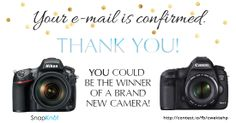 Camera Giveaway: Free Nikon or Canon Camera