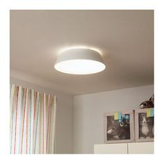 IKEA - FUBBLA, LED ceiling lamp, Gives a good general light. The LED light source consumes up to less energy and lasts 10 times longer than incandescent bulbs. Led Ceiling Lamp, Flush Ceiling Lights, False Ceiling Design, Kids Lighting, Funky Lighting, Led Lampe, House Design, Interior, Room