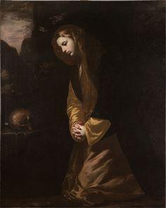 The Magdalene Meditating in the Desert - Jusepe de Ribera - c. 1640