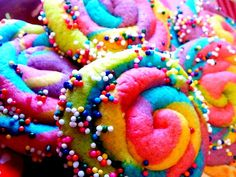 Mom, if you see this pin, please make these rainbow cookies for my birthday...