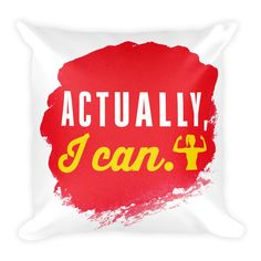 Actually, I can - Square Pillow (Red) from ASSKICKER INK.  Great gift idea! This soft pillow is an excellent addition that gives character to any space. It comes with a soft polyester insert that will retain its shape after many uses, and the pillow case can be easily machine washed.