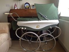 Vintage (1964) Pedigree Coachbuilt Pram in Green | eBay