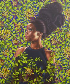 The painter, Kehinde Wiley, reinterprets classical styles of Western art, populated by men and women of color