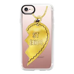 Best friend necklaces - iPhone 7 Case And Cover (£31) ❤ liked on Polyvore featuring accessories, tech accessories, iphone case, iphone cases, clear iphone case, iphone cover case and apple iphone case