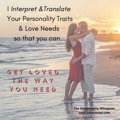 I Interpret & Translate your personality traits so that....  You can Get Loved The Way You Need.  Booking a Singles' or Couples' Personality Reading using the well respected Enneagram (any-a-gram) model will help you to take your connection and love much deeper.   ~The Relationship Whisperer  #free #personalitytest #tips #gamechanger #relationships #love #stayorgo #awareness #consciousness #loveyourself #personality #enneagram #coach #romance #inspirational #singles #spiritual  #soul…
