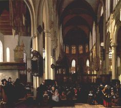 Emanuel de Witte, Interior of Church 1660 - Google Search