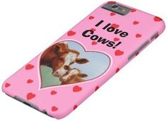 Pink I Love Cows iPhone 6 Case