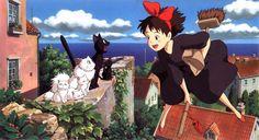 """""""Kiki la petite sorcière"""" livre japonais pour enfants écrit en 1985 par Eiko Kadono, illustré par Akiko Hayashi. Il est surtout connu par son adaptation en film d'animation par Hayao Miyazaki en 1989. Bande annonce : http://www.youtube.com/watch?v=iqUTyjUd9kU&feature=youtu.be"""