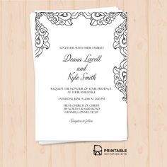 Free PDF Download Stylized Foliage and Leaves Invitation Easy to