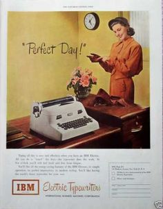 An IBM electronic typewriter = the end of a perfect day at the office!